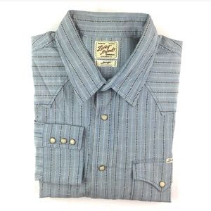 NEW Lucky Brand Me s Pearl Snap Western Shirt SZ L
